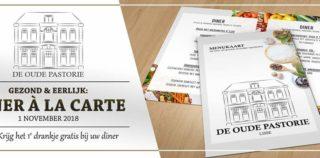 Heerlijk à la carte lunchen/dineren en daarbij een GRATIS 2e dessert bij de Oude Pastorie (Lisse) en ook nog kans  op mooie prijzen