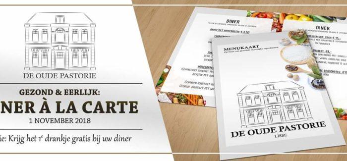 Heerlijk à la carte dineren en daarbij een GRATIS 2e dessert bij de Oude Pastorie (Lisse) en ook nog kans  op mooie prijzen